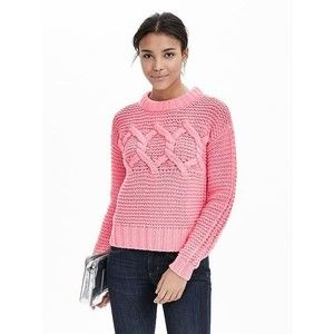 Banana Republic Womens Cable Knit Cropped Sweater Pullover $28 ...