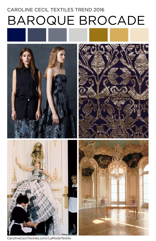 Carolinececiltextiles Interior Trend Inspiration Baroque Brocade Textiles Fashion Mood
