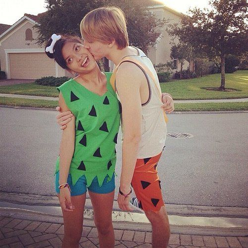 Pebbles and Bamm-Bamm Costumes, Halloween costumes and Couple - cheap couple halloween costume ideas