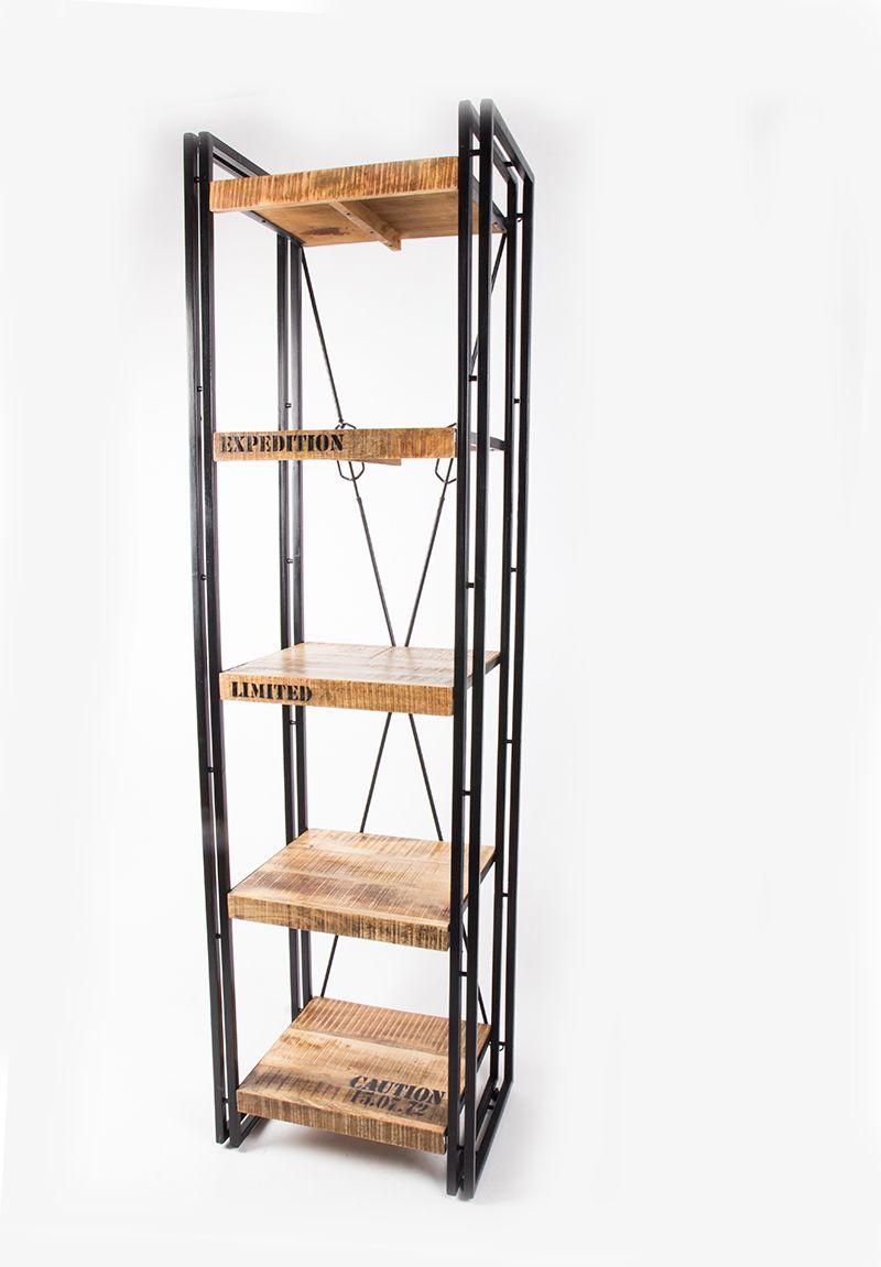 Regal Metall Massivholz Im Industriedesign Mobel Landhausstil