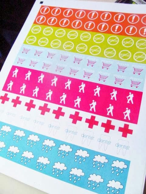 jz- AWESOME, easy to understand tutorial on how to make cute calendar stickers that look legit!  DIY -- Printable Planner Stickers