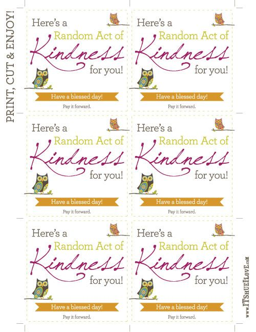 It S Hue I Love 32 Random Acts Of Kindness Random Acts Of Kindness Kindness Projects Kindness Activities