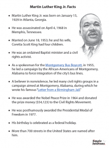 Celebrate Dr. Martin Luther King Jr.'s birthday with your students by encouraging