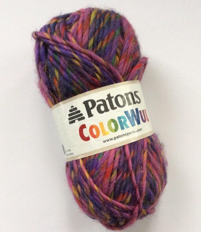 Patrons Colorwul Yarn Bloom 90415 Pink Purple 100 Wool Felting 85 G