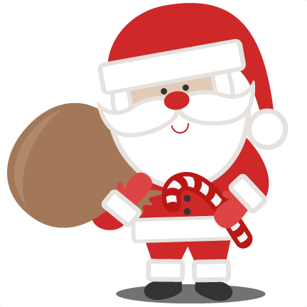 Santa With Bag SVG scrapbook cut file cute clipart files for ...