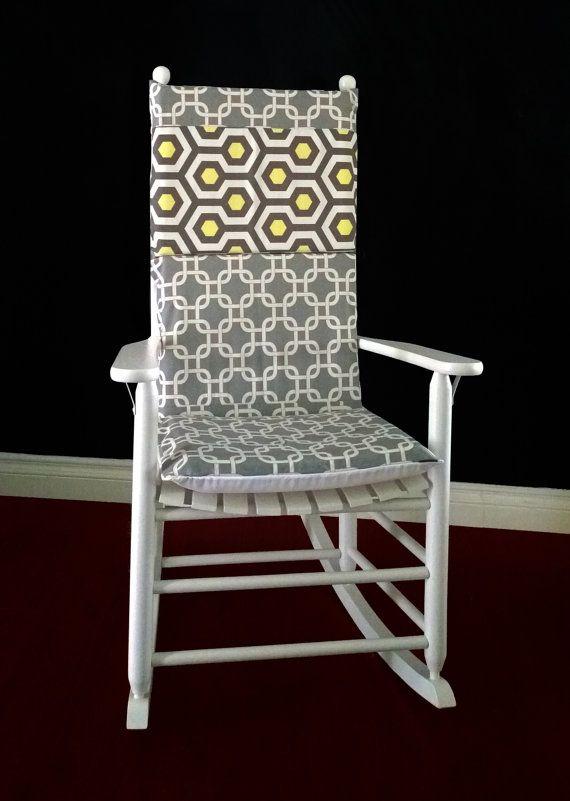 Incroyable Rocking Chair Cushion Cover, Magna Lemon Grey Gotcha By RockinCushions.  Modern Geometric #genderneutral
