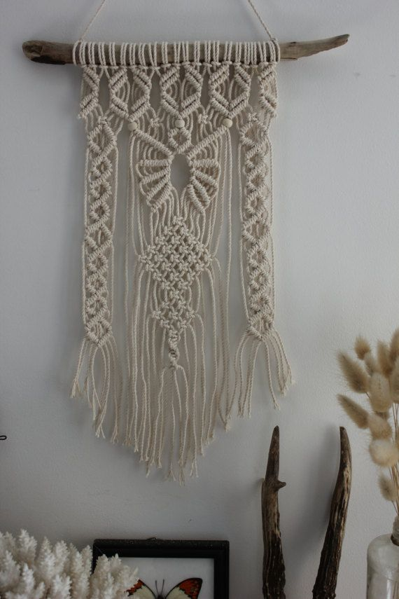 in macrame wall hanging d corations murales macram et longueur. Black Bedroom Furniture Sets. Home Design Ideas