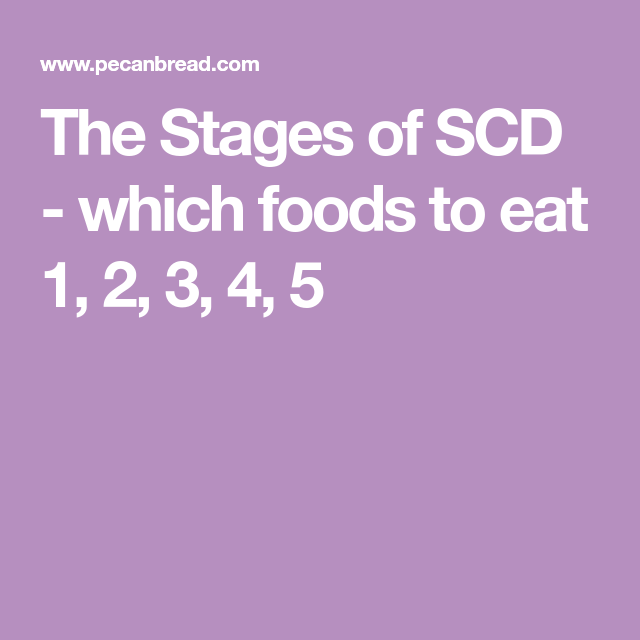 what are the stages ofthe scd diet