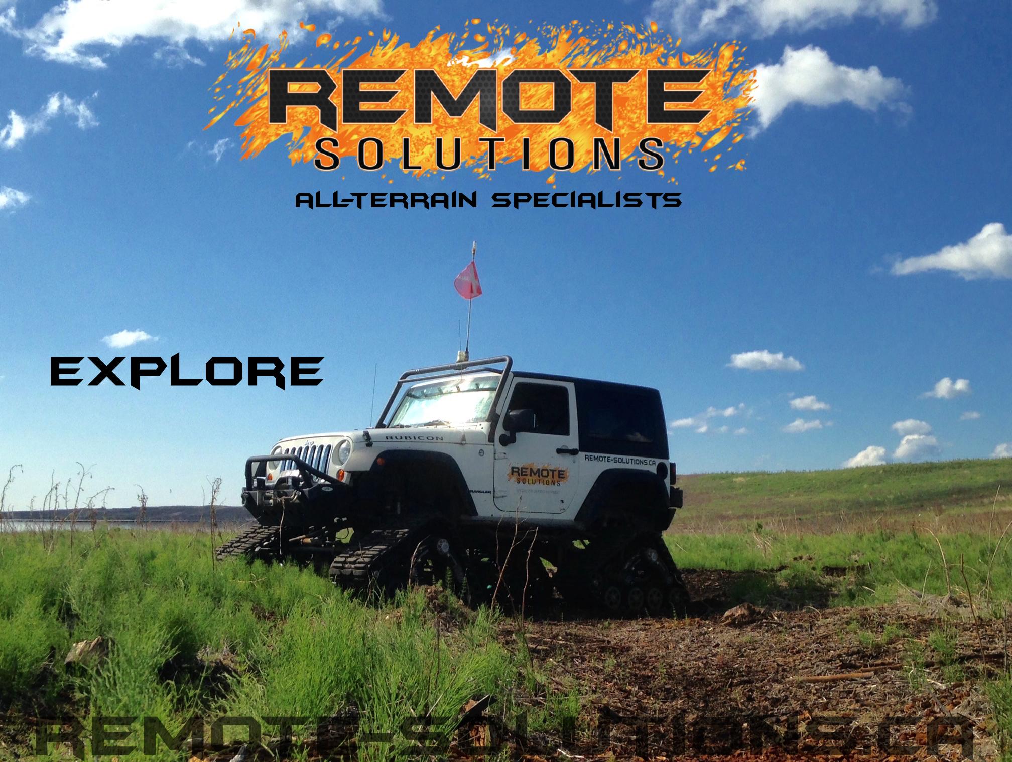 Tracked Jeep Rubicon Mine Site Exploration, Northe