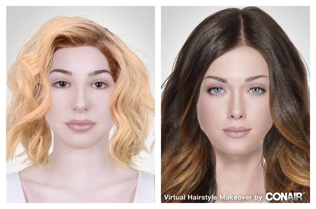 Virtual Hairstyle That's My Virtual Hairstyle Makeover #conairmakeover Try It
