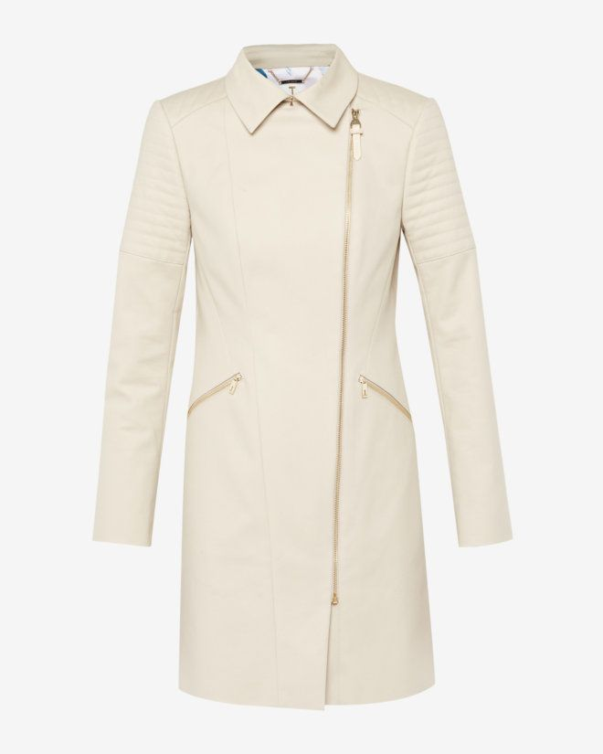 b0e22e1dc Quilted sleeve trench coat - Taupe