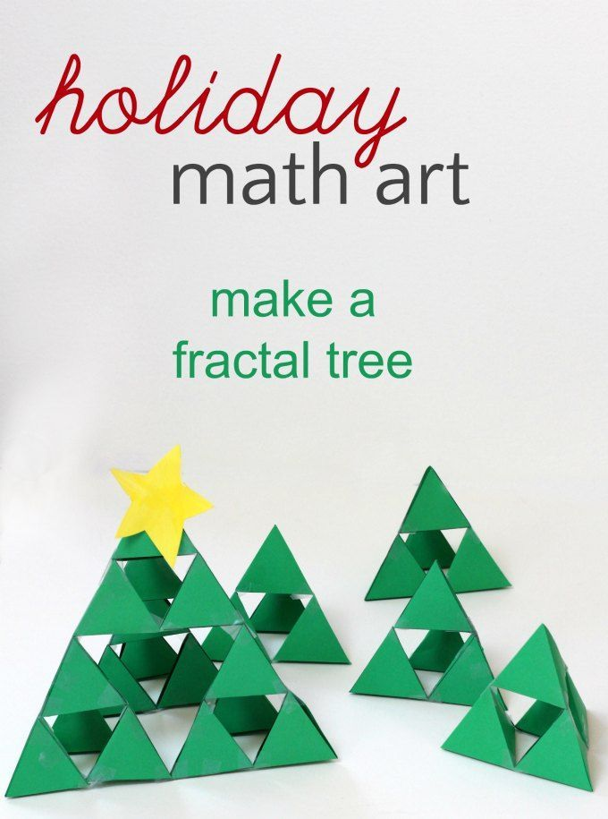 Sierpinski Fractal Triangle Holiday Math Art For Kids Growing