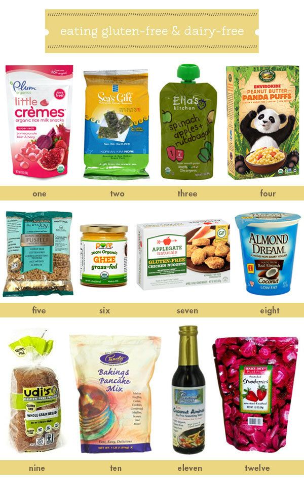 Gluten Free And Dairy Free Kids Foods And Snacks Dairy Free