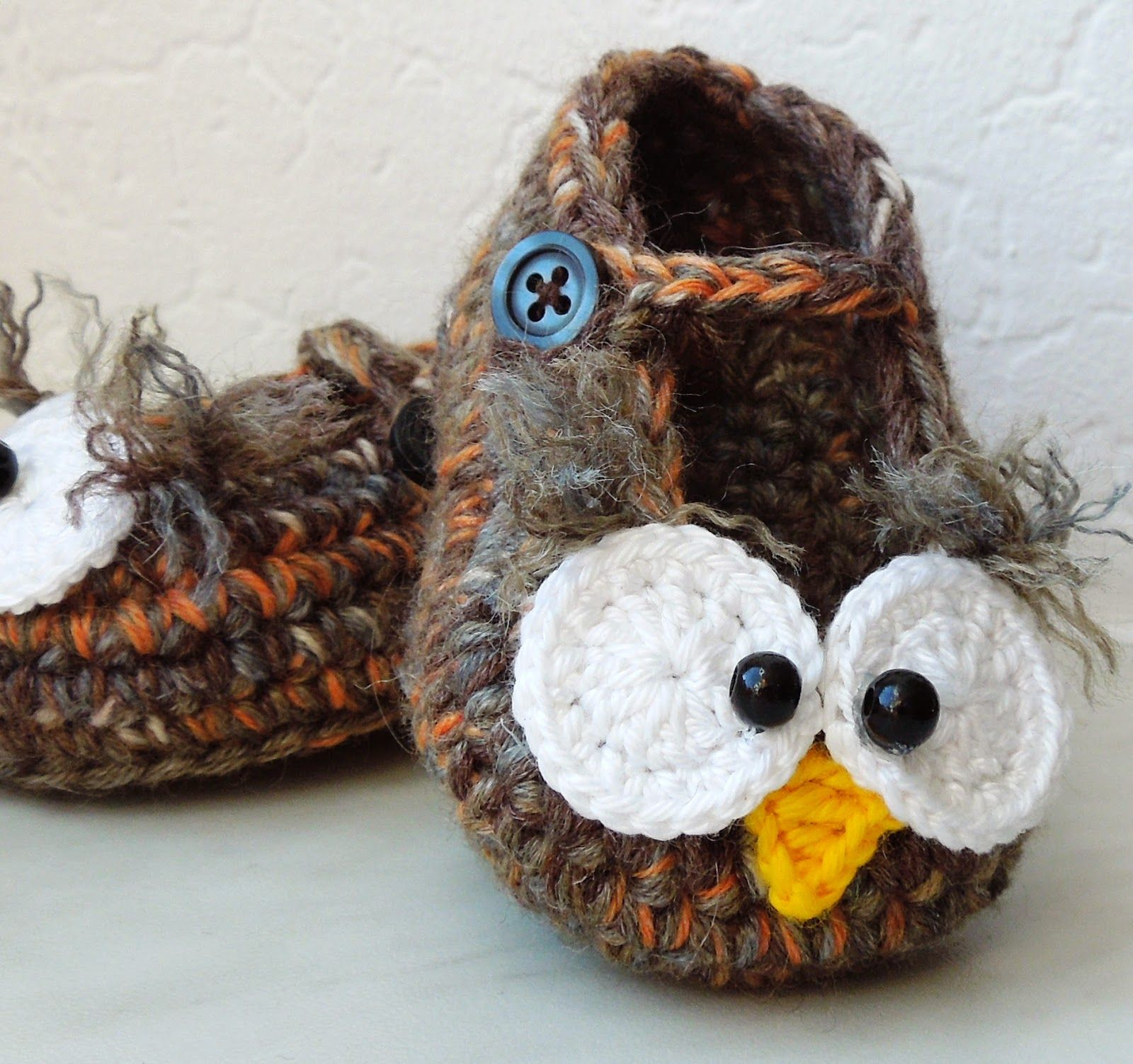 Baby shoes in owl style. Free (use Google translate) | Häkeln und ...