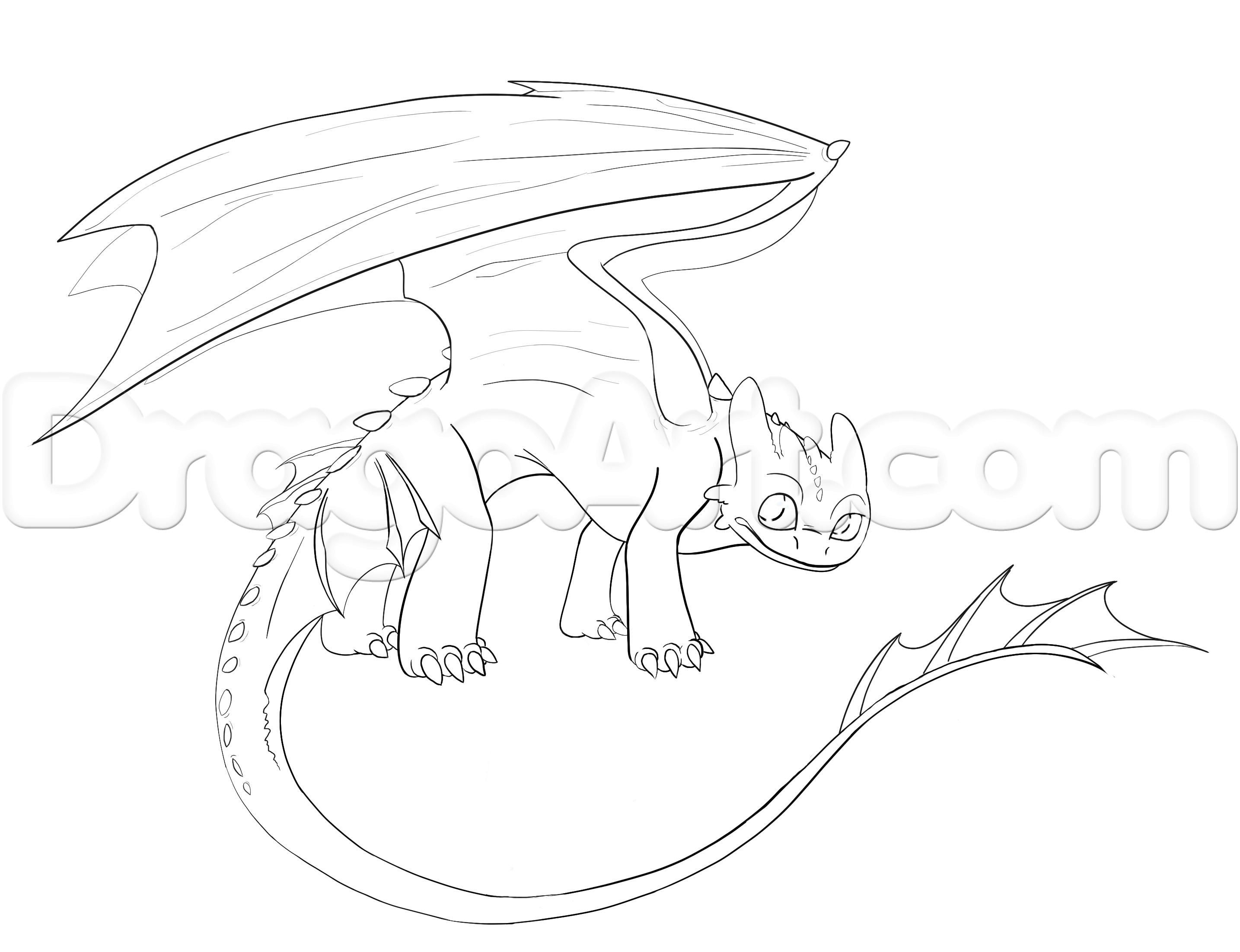 how to draw a night fury toothless step 8