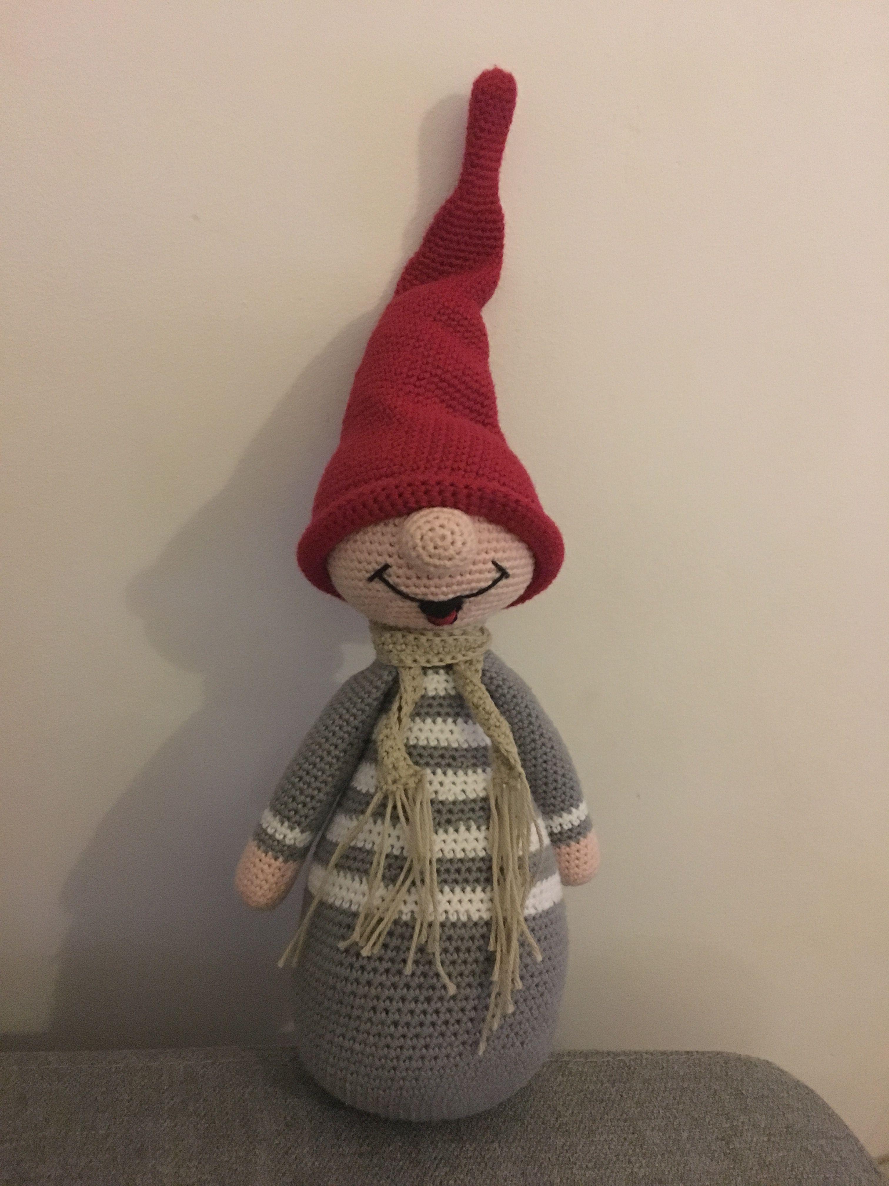 Hæklet nisse, crochet elf   Crochet Christmas 2   Pinterest ...