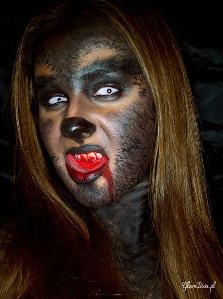 werewolf girl werewolf makeup halloween howto. Black Bedroom Furniture Sets. Home Design Ideas