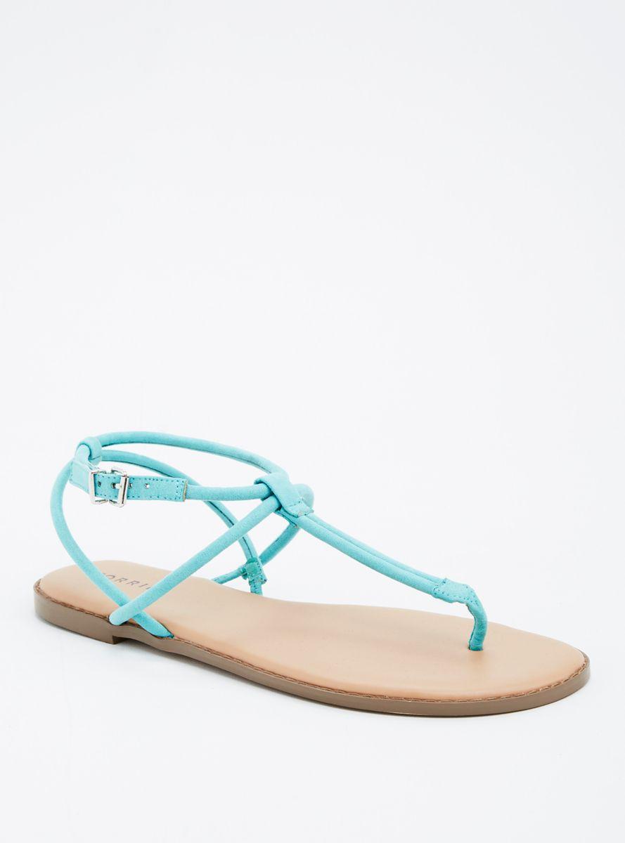 Faux Suede Multi T-Strap Sandals