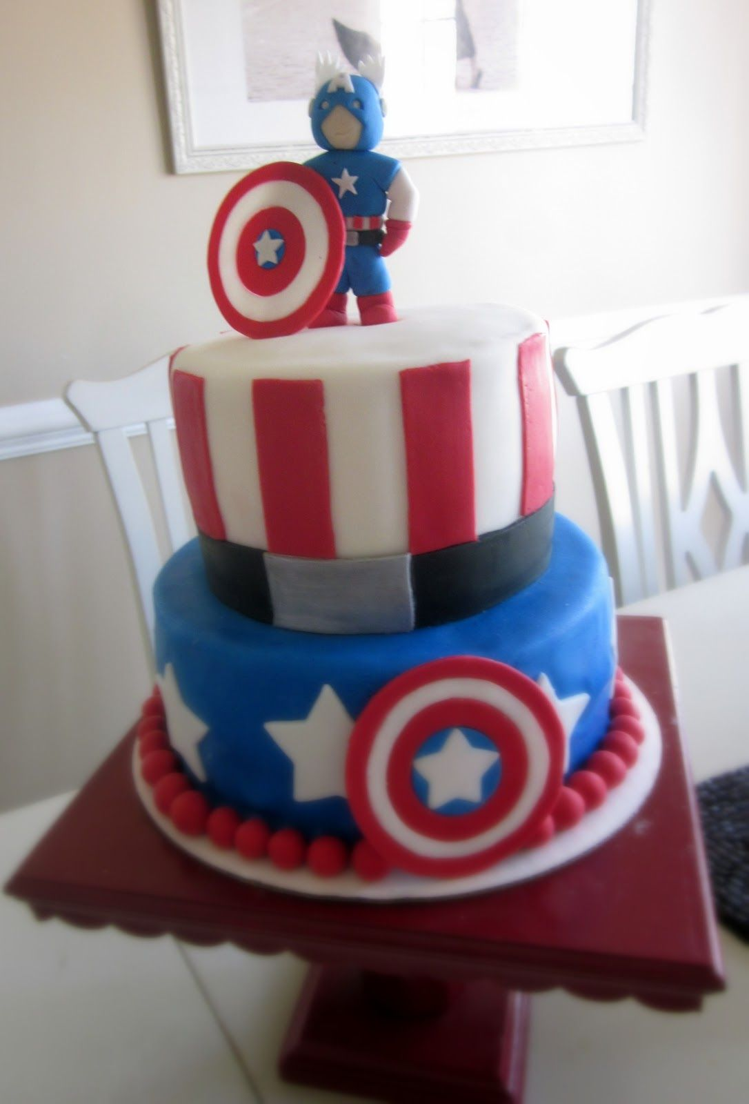 CaptainAmericaCakeTopperjpg 10861600 cake for kids and