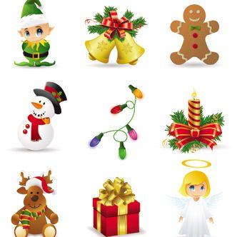 Vectores de objetos de navidad descargas freebies - Plantillas adornos navidenos ...