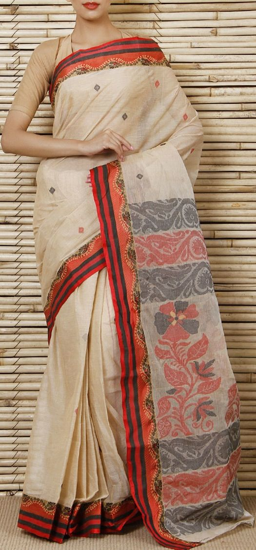 Tant Cotton Saree From Bengal CLOTHING Amp TEXTILES INDIA