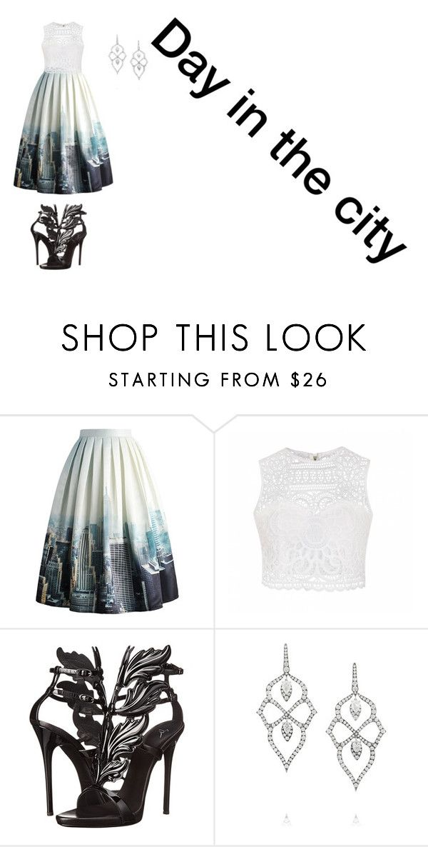 """""""Day in the city"""" by meyou-ii ❤ liked on Polyvore featuring Chicwish, Ally Fashion, Giuseppe Zanotti and Stephen Webster"""