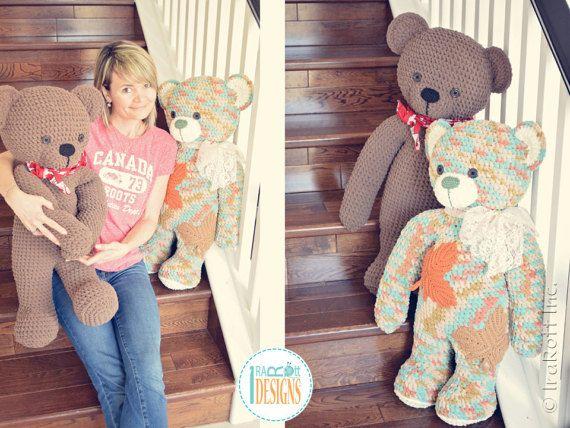 Amigurumi Crochet Patterns Teddy Bears : New pattern john the canadian teddy bear amigurumi crochet pdf