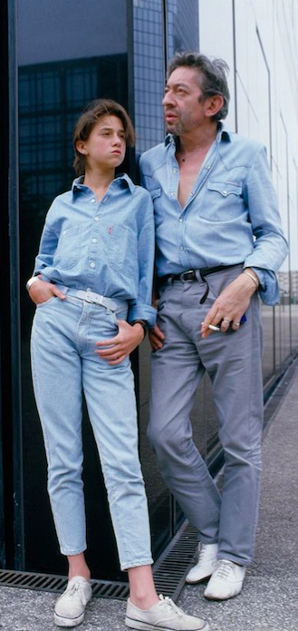 CHARLOTTE GAINSBOURGH, FRENCH ACTRESSES, JEANS, DENIM, SERGE GAINSBOURGH, JANE BIRKIN