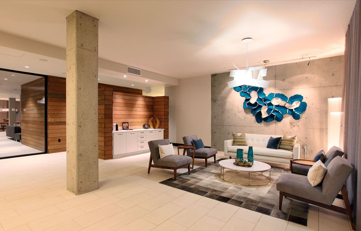 Transitional Contemporary Office Lobby Office Space