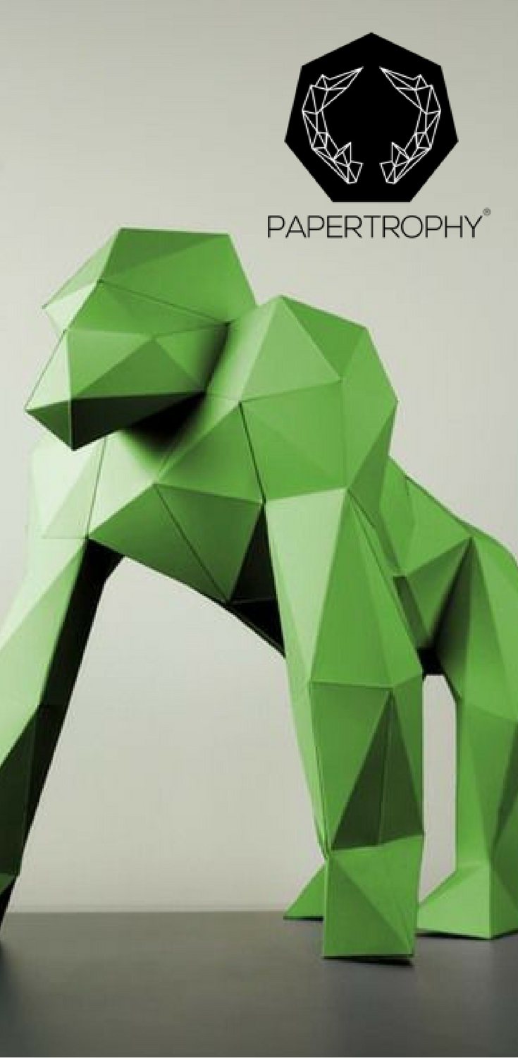 Imposing grand and impressive this gorilla papertrophy is a imposing grand and impressive this gorilla papertrophy is a catch papercraft jeuxipadfo Image collections