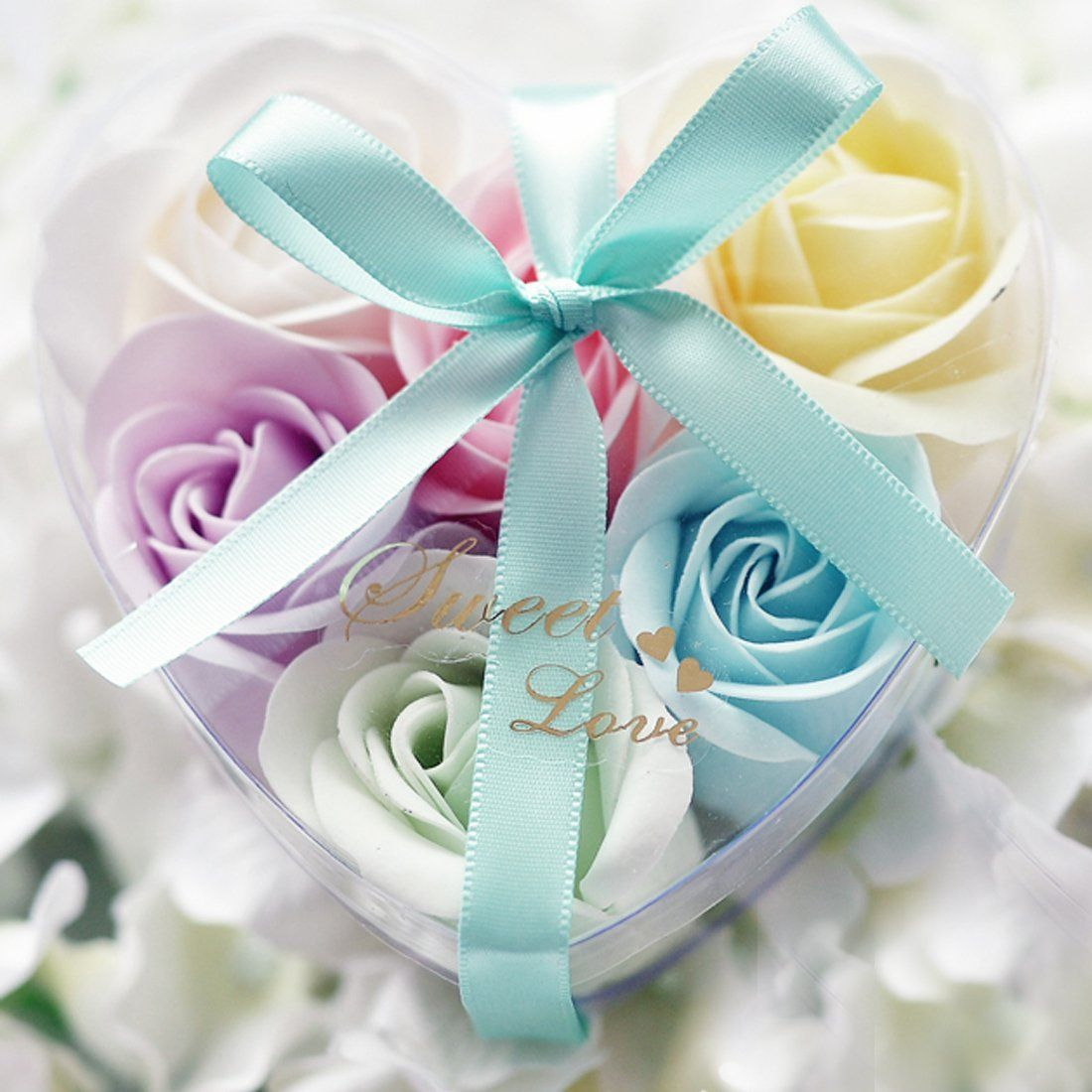 Calcifer® 6pcs Dekorative Duftende Romantic Rose Blumen Form ...