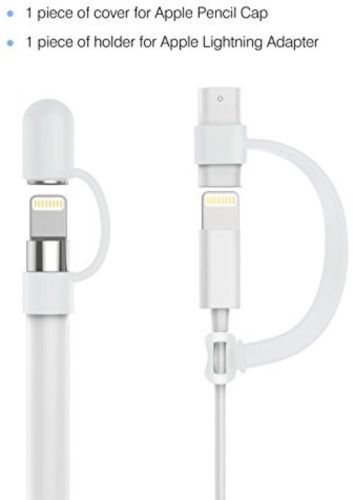 Apple Pencil Cap Holder Premium Soft Silicone Elastic Magnetic Pen Keeper White Apple Pencil Soft Silicone Pencil