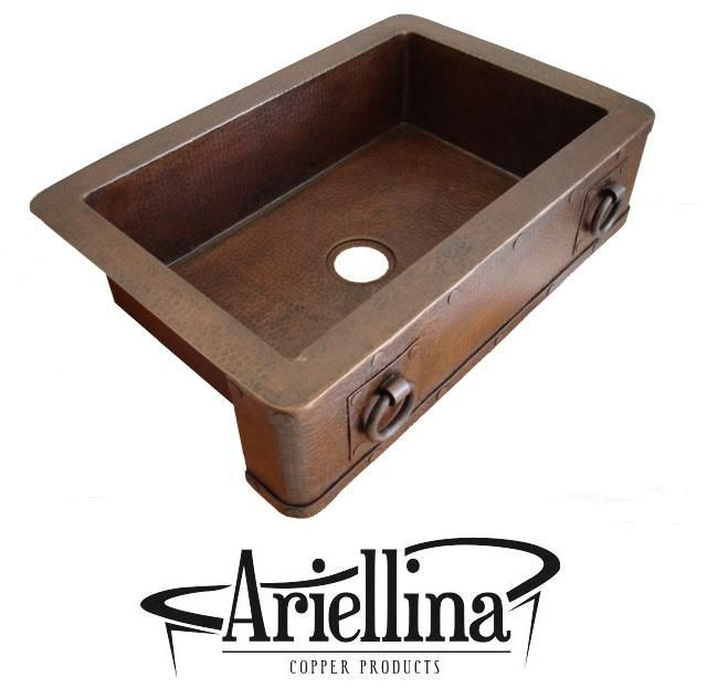 Wondrous Ariellina Farmhouse 14 Gauge Rings Copper Kitchen Sink Interior Design Ideas Inesswwsoteloinfo