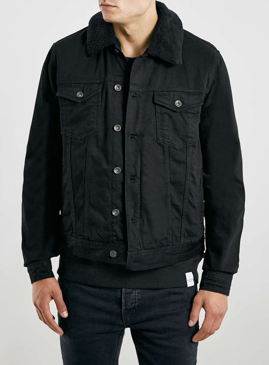 Black Borg Lined Denim Jacket - New In - New In | goods ...