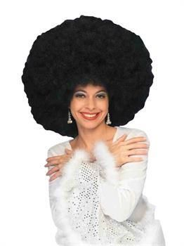 70/'s Freak Black Wig Costume Accessory Adult Halloween