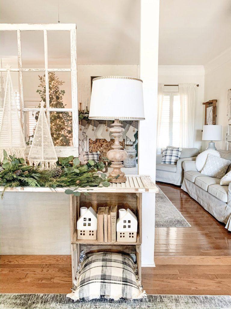 Farmhouse Style Christmas Console Table | Christmas home ...