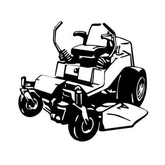 Zero Turn Mower Lawn Mower Outline Svg Digital Download Cuttable