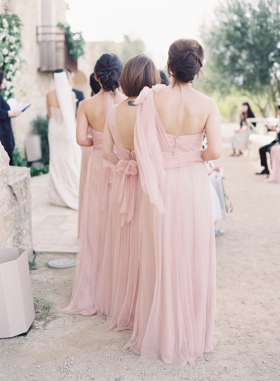 Tuscan-Inspired Wedding Accented With Organic Greenery   Bridesmaid ...