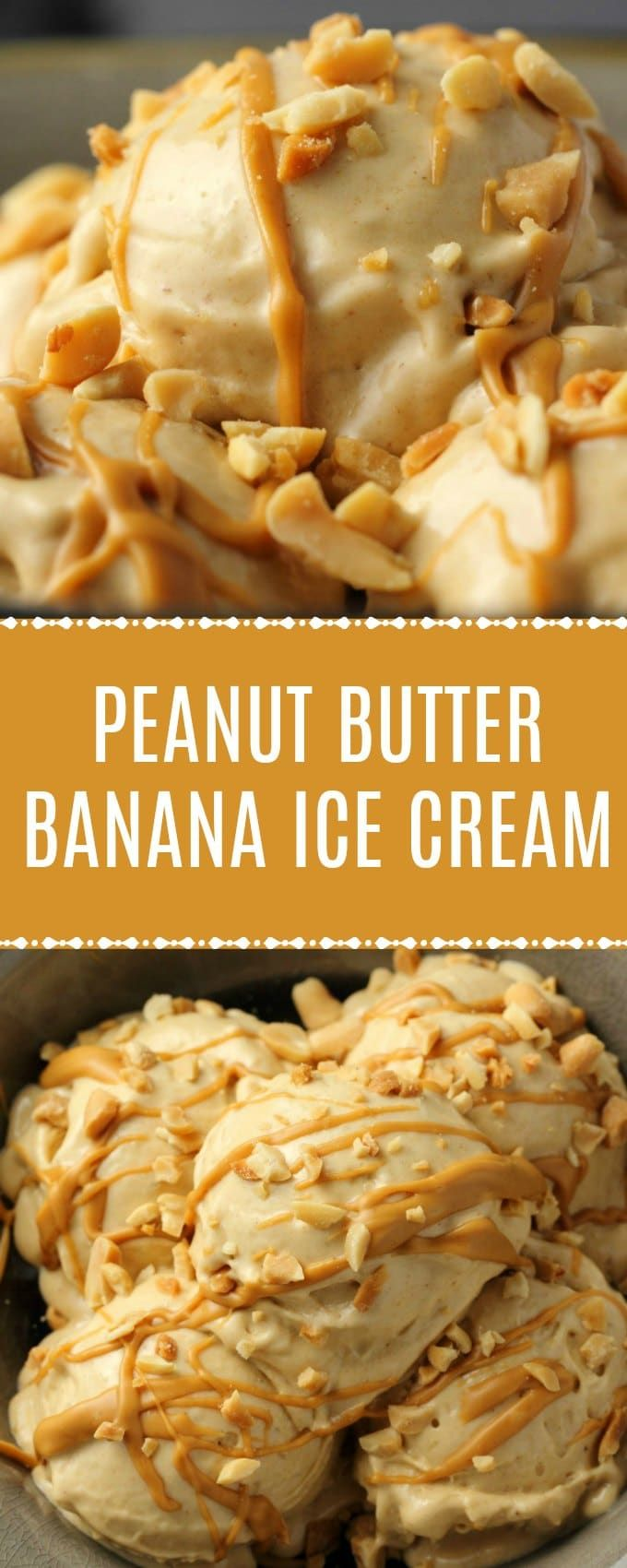 Peanut Butter Banana Ice Cream  2 Ingredients is part of Banana ice cream - Smooth and velvety peanut butter banana ice cream, made with just 2ingredients and a food processor! So good you'd never suspect it's healthy too! Simple, delicious, vegan and glutenfree