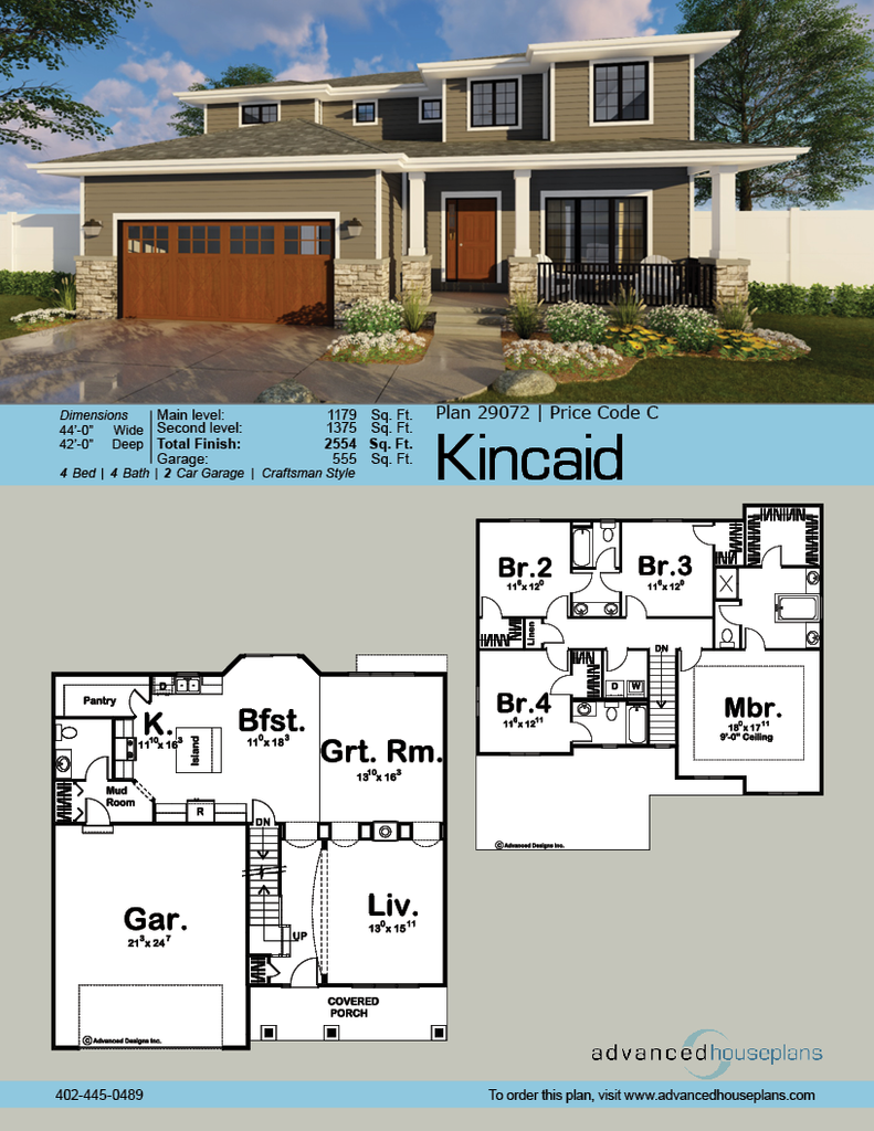 2 Story Craftsman House Plan Kincaid Craftsman House Plan House Plans House Plans Farmhouse