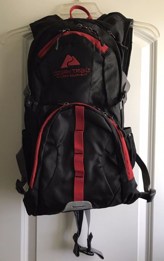 00c576f8f Ozark Trail 23L Riverdale Hydration Pack Black With Red Trim ...