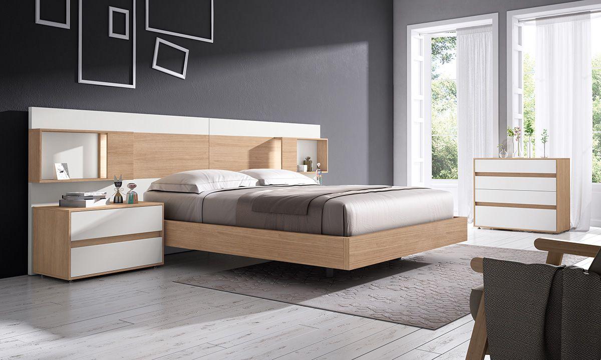 Gráfika bedrooms COMP / 014 Roble / Blanco lacado | Bed | Pinterest ...