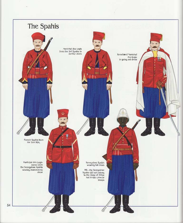The Spahis, French Army, 1914