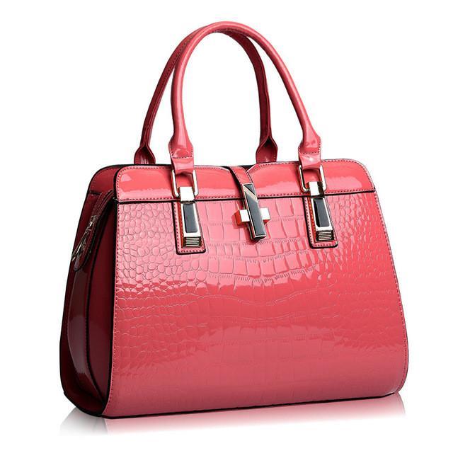 Europe Women Leather Handbags Pu Handbag Bag Patent