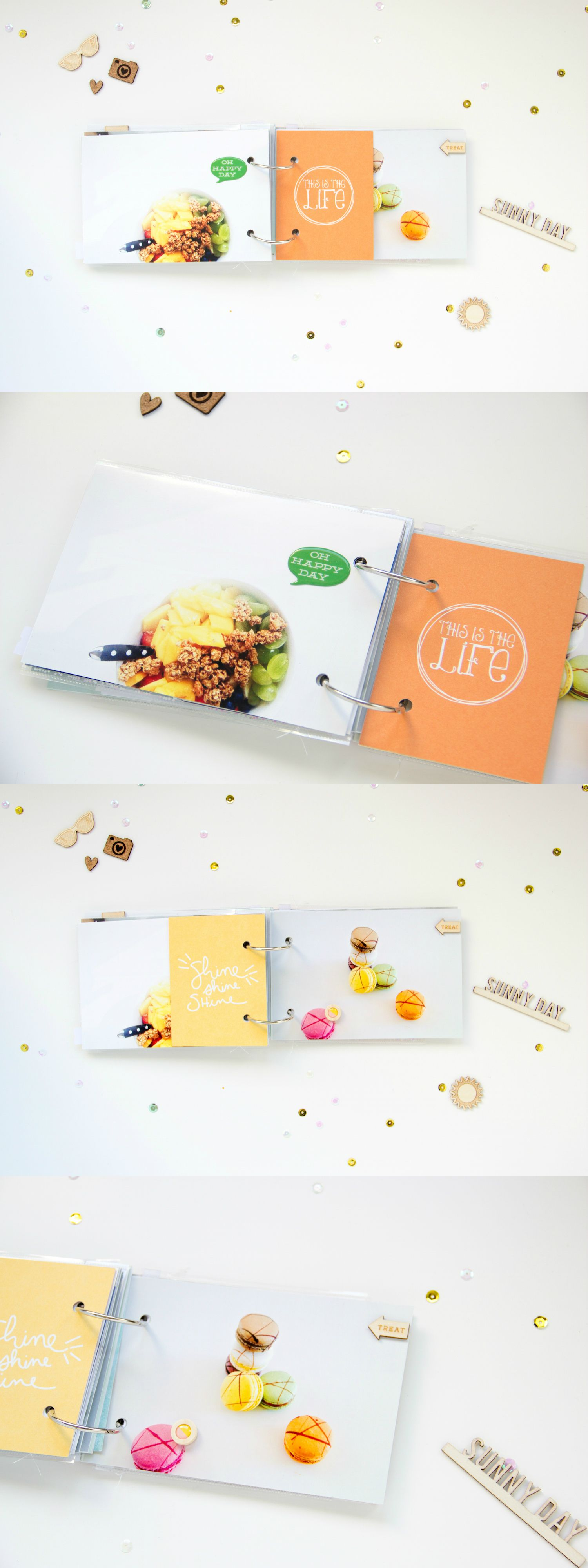 Summer #MiniAlbum by ScatteredConfetti for #GossamerBlue // #scrapbooking