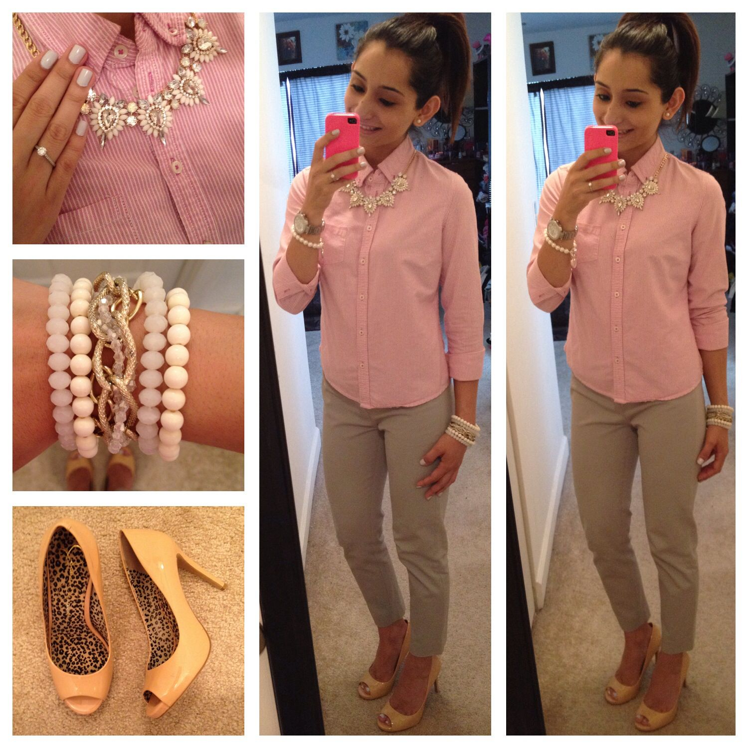 Office outfit from Pearls and Pink Pens' Instagram | All