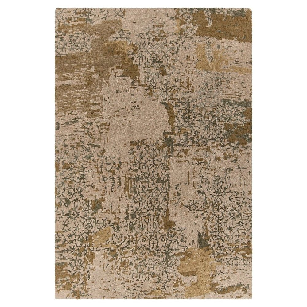 Rupec Hand-Tufted Wool and Viscose Area Rug - Beige/ Green - (9'x3') - Chandra, Beige/Green