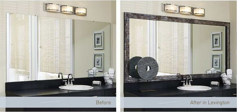 Peel Stick Mirror Frames Nice Idea But At 150 Us The Same