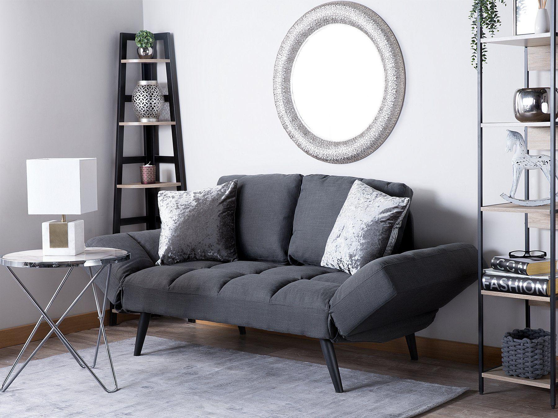 Vuodesohva Tummanharmaa Brekke Fabric Sofa Bed Fabric Sofa