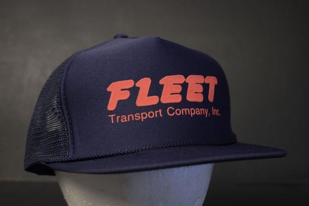 685057383c8 Mesh Trucker Hat Cap Automotive Snapback Hipster Fleet Transport Company  Navy  Nissin  Trucker